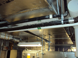 duct off of AHU in Mech rm