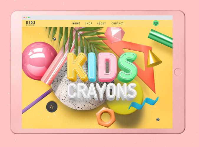 UI Design | Kids Crayons