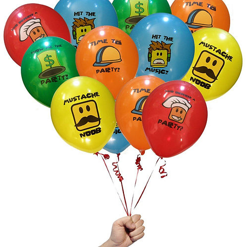 5 воздушных шаров ROBLOX разного цвета