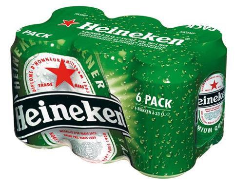 Heineken 33 cl canette