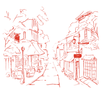 Illustrated Neighbouhood  Street