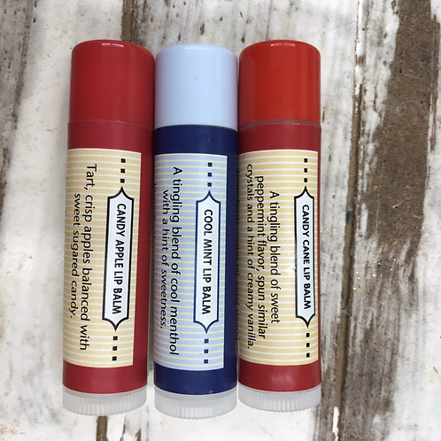 Limited edition Holiday lip balm flavors