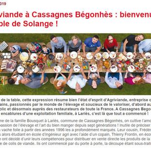 Agriviande à Cassagnes Bégonhès : bienvenue à la Table de Solange !