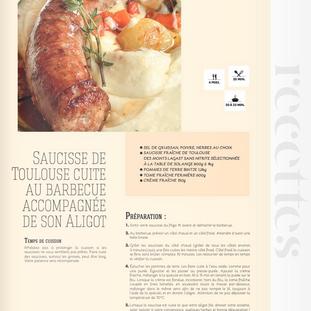 Saucisse de Toulouse / Aligot
