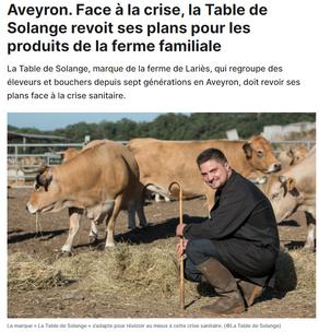 Face à la crise, la Table de Solange revoit ses plans pour les produits de la ferme familiale.