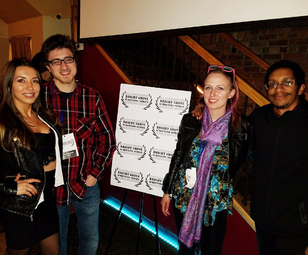 Kim with Director Ryan Reid, Caryn Ann Vogel and Jeff Vasquez at Bright Grove Screening Series