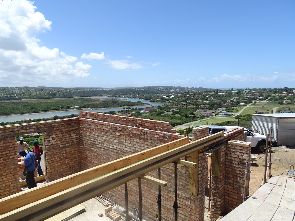 Our latest Port Alfred project progressing. Stunning views of the Kowie River