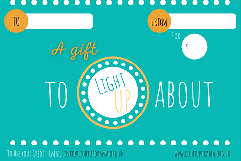 Light UP Gift Card £25