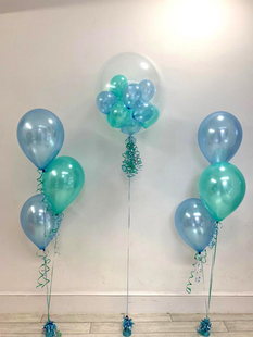 Blue & Green Bubble Balloon