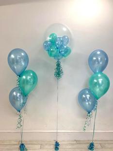 Blue & Green Bubble Balloon
