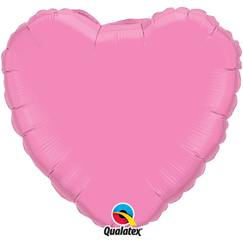 "Rose Pink 18"" Foil Heart Balloon"