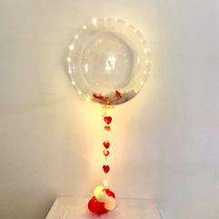 Red & White Feather Balloon