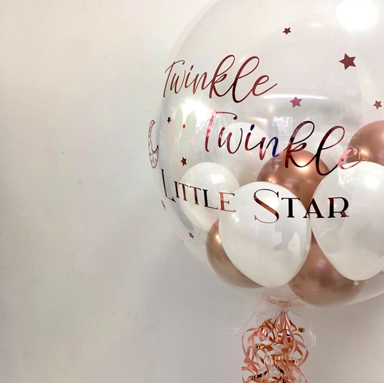 Rose Gold Twinkle, Twinkle Little Star Bubble