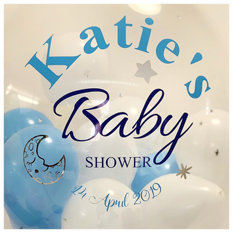 'Katie's Baby Shower' Bubble Balloon