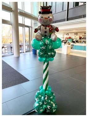 Snowman Greek Column
