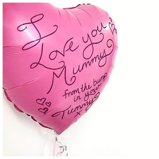 """Personalised """"From the Bump"""" Foil Heart"""