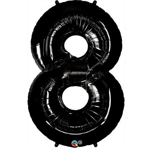 """Black Number 8 (34"""")"""