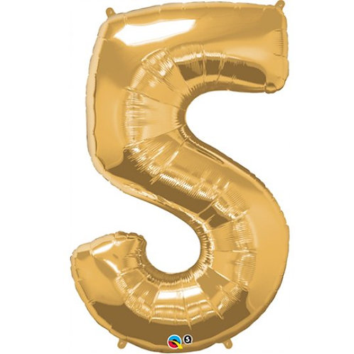 """Gold Number Balloon (34"""")"""