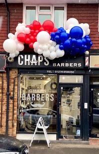Chaps Barbers Balloon Garland Spill