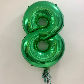 Green Number 8 with Extra Ribbons