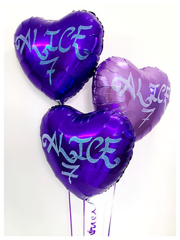 Purple Foil Bouquet with Glitter Writing