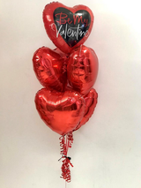 'Be My Valentine' 5 Kissing Heart Bouquet