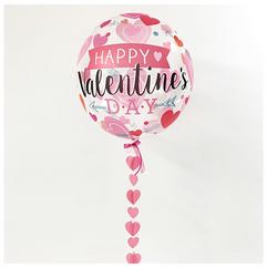 'Happy Valentines Day' Pre-Printed Bubble