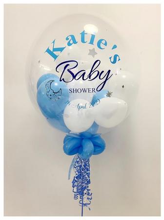 'Katie's Baby Shower' Bubble Balloon