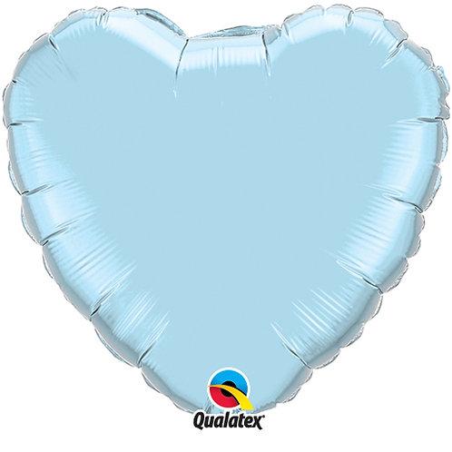 """Light Blue 18"""" Foil Heart Balloon"""