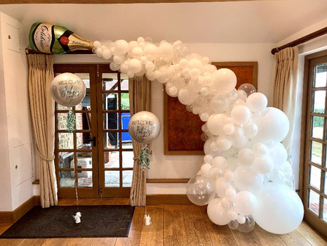 Champagne Balloon Spill