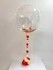 Red & White Feather Balloon
