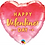 "Thumbnail: Valentine's Gold Arrow 18"" Heart Foil Balloon"