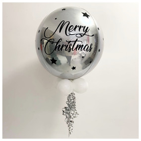Silver Merry Christmas Orb