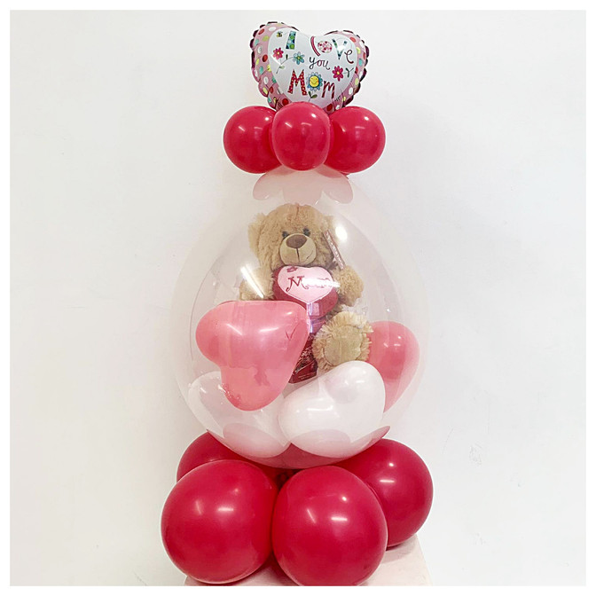 Stuffed Balloon with Mini Balloon Topper