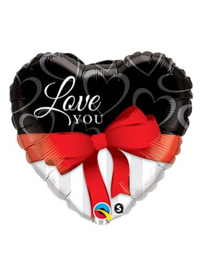 "Valentine's Day I Love You Red Ribbon 36"" Foil Balloon"