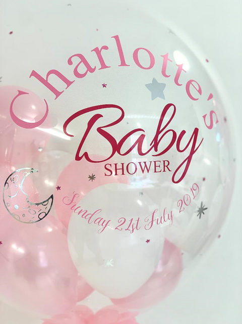 'Charlotte's Baby Shower' Bubble Balloon