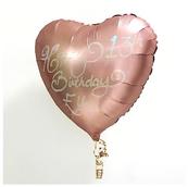 Small Glitter Rose Gold Heart