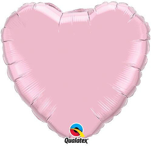 """Light Pink 18"""" Foil Heart Balloon"""