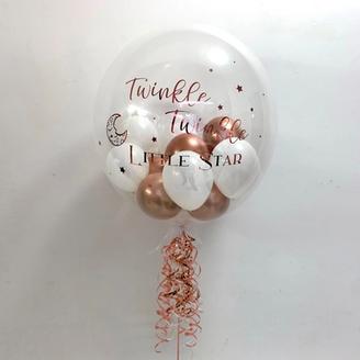 Rose Gold Twinkle, Twinkle Little Star Bubble