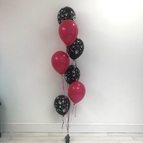 7 Latex Balloon Bouquet - Pirate Themed