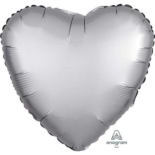 "Platinum Satin 18"" Foil Balloons"