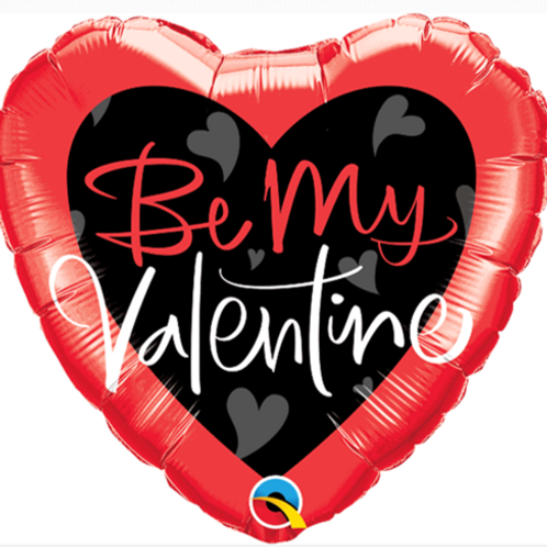"Be My Valentine 18"" Heart Foil Balloon"