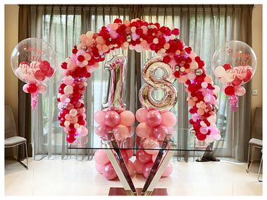 Pink Organic Table Arch