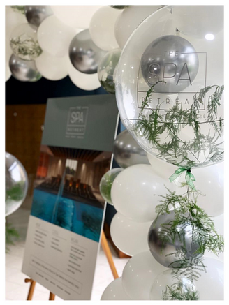 Fern Bubble Balloons with Corportate Logo