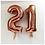 "Thumbnail: Rose Gold Number Balloon (34"")"