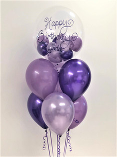 Purple Bubble Balloon Bouquet