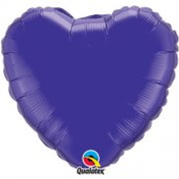 "Purple 18"" Foil Heart Balloon"