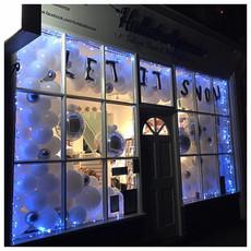 Hullaballoonza's Let It Snow Christmas Window