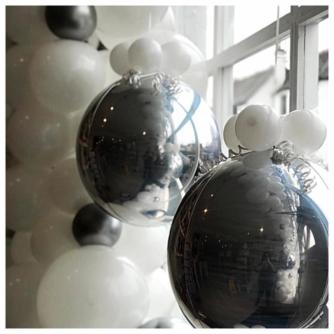 Silver Orb Baubles