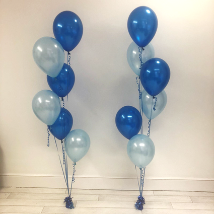 6 Latex Balloon Bouquet - Blues